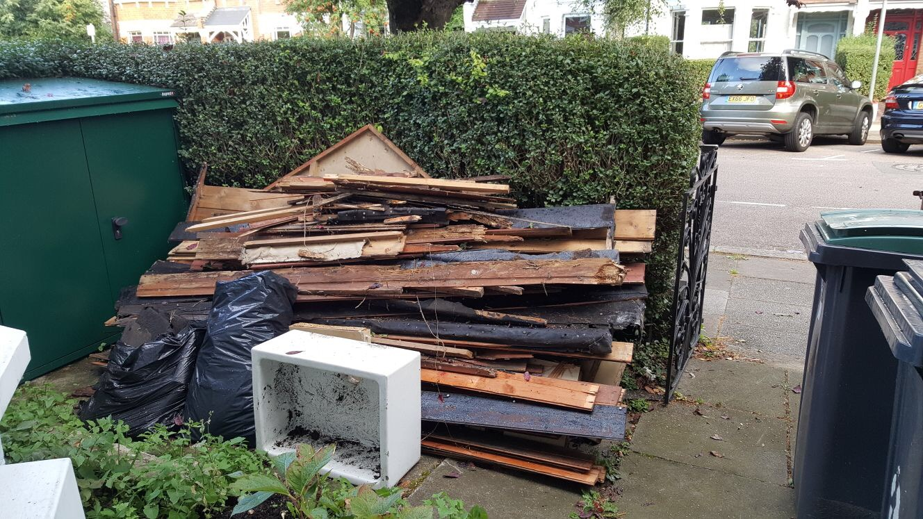 building waste removal in London