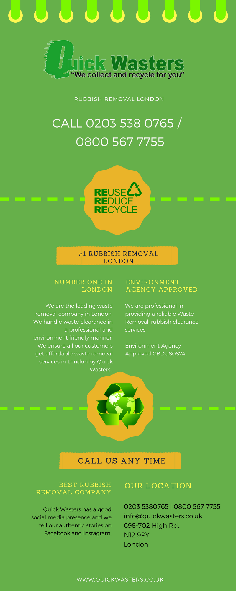 Quickwasters Environment Agency Approved Rubbish Removal London