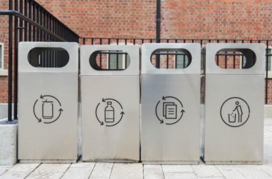 Black color recycling bins