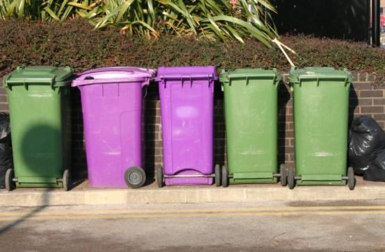 Purple Colored Recycling Bins