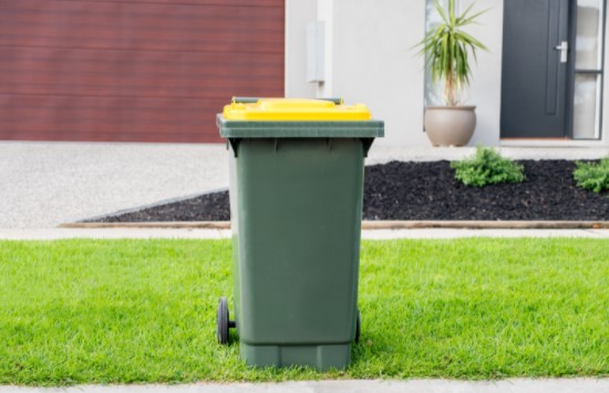 green Colored Recycling Bins