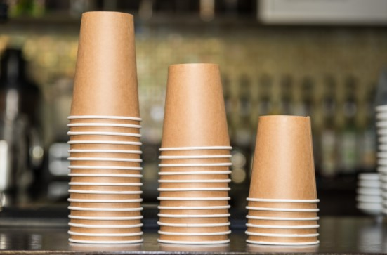replace plastics with paper cups