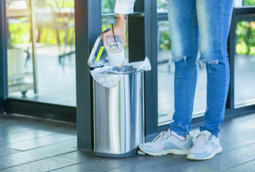 dumping of plastics into landfills