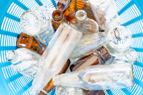Glass wastes